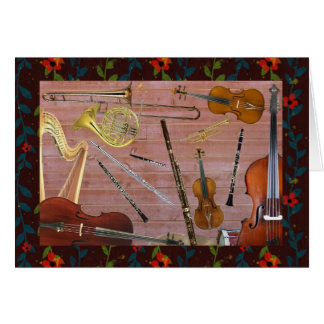 Symphony Orchestra Instruments Card