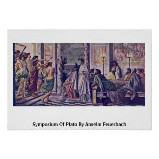 Symposium Of Plato By Anselm Feuerbach Poster