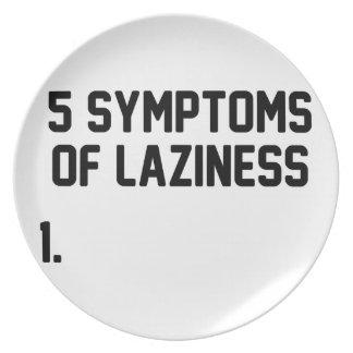 Symptoms of Laziness Plate