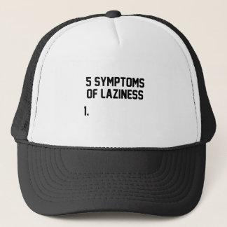 Symptoms of Laziness Trucker Hat