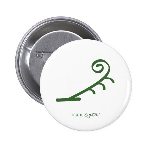 SymTell Green Impulsive Symbol Pinback Button