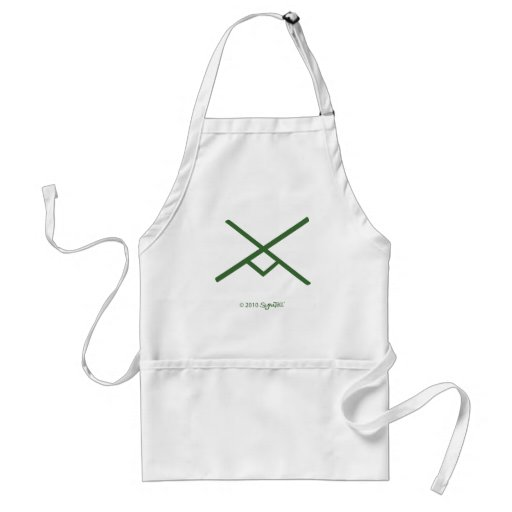 SymTell Green Industrious Symbol Apron