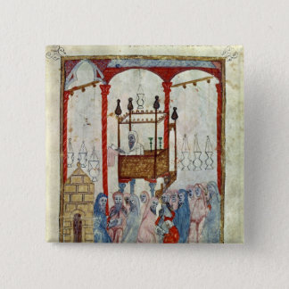 Synagogue, c.1350, Northern Spain 15 Cm Square Badge