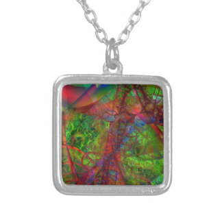 Synapse Silver Plated Necklace