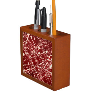 SYNAPSES (a red abstract art design) ~ Desk Organiser