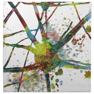Synapses Medical Abstract Gift Napkin