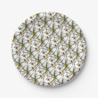 Synapses Medical Abstract Gift Paper Plate
