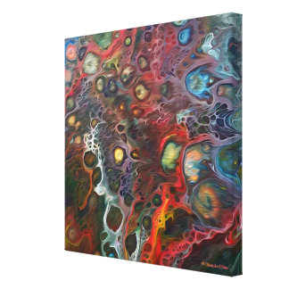 """Synapsis Fantastica"" Custom Absract Canvas Print"
