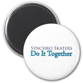 Synchro Skaters Do It Together Refrigerator Magnet