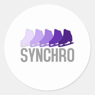 Synchro Skates Round Sticker