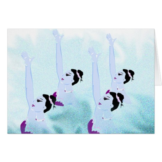 Synchronised Swimmers - beautiful cards, t-shirts Card