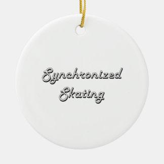 Synchronized Skating Classic Retro Design Ceramic Ornament