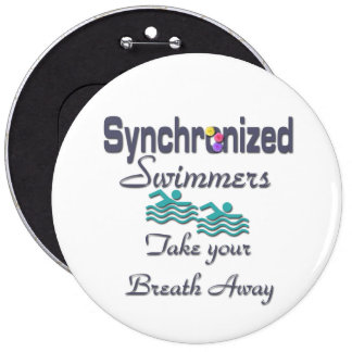 Synchronized Swimmers 6 Cm Round Badge