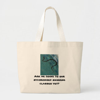 Synchronized Swimming Anyone? Large Tote Bag