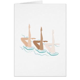Synchronized Swimming Card