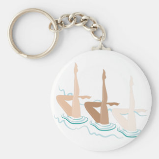 Synchronized Swimming Key Ring