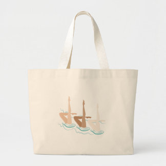 Synchronized Swimming Large Tote Bag