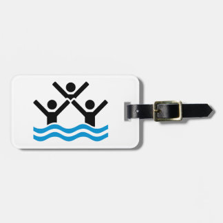 Synchronized swimming luggage tag