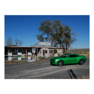 Synergy Green Fifth Generation Chevy Camaro Poster