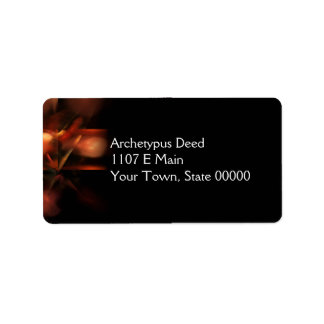 Synopsis Abstract Fractal Artwork Address Label