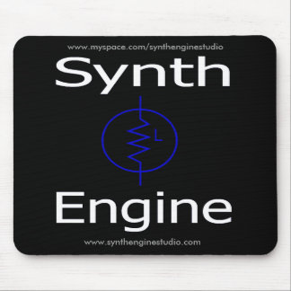 Synth Engine Mousepad ( Black )