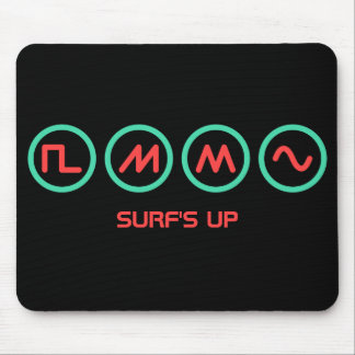"""Synth Waveforms """"Surf's Up"""" Mouse Pad"""