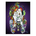 Synthea Psytrance Tattoo Disc Jockey Fae Postcard