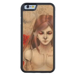 Synthetic Beauty  Rose Red version Carved® Maple iPhone 6 Bumper Case
