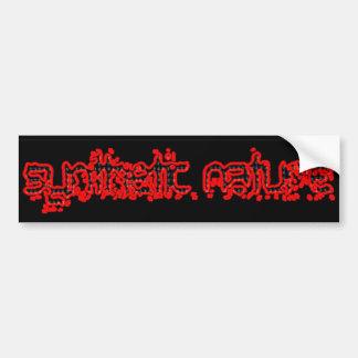 synthetic-nature-bumper-tag car bumper sticker