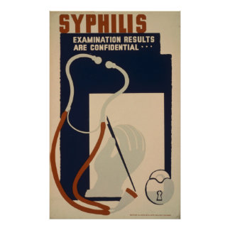 Syphilis Vintage WPA Health Poster