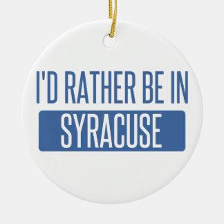 Syracuse Ceramic Ornament
