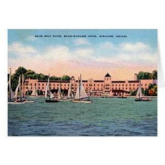 Syracuse, Indiana Spink Hotel on Lake Wawasee Card