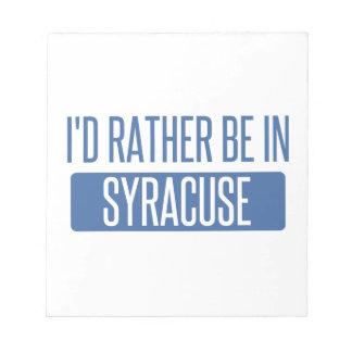 Syracuse Notepad