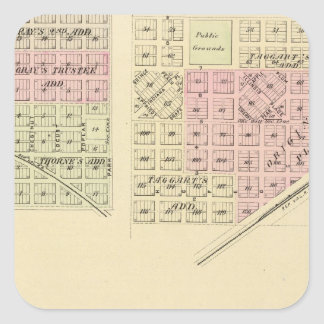 Syracuse, Palmyra, Unadilla, Wyoming, Nebraska Square Sticker