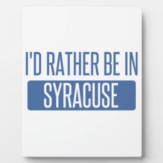 Syracuse Plaque