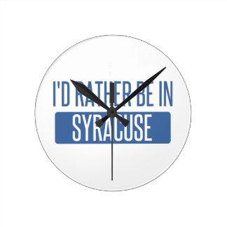Syracuse Round Clock