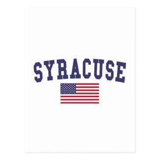 Syracuse US Flag Postcard