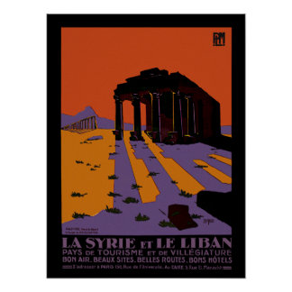 Syria and Lebanon Poster