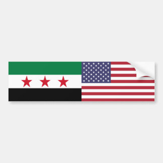 Syria and US Flag Sticker