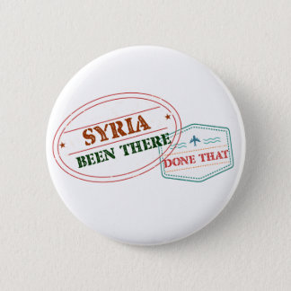 Syria Been There Done That 6 Cm Round Badge