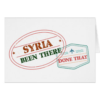 Syria Been There Done That Card