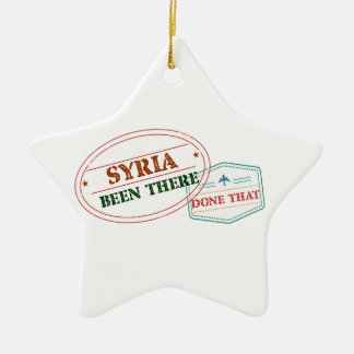 Syria Been There Done That Ceramic Ornament