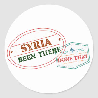 Syria Been There Done That Classic Round Sticker