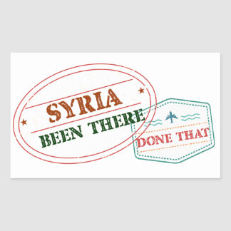 Syria Been There Done That Rectangular Sticker