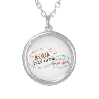 Syria Been There Done That Silver Plated Necklace