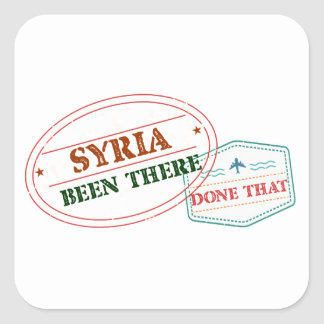 Syria Been There Done That Square Sticker