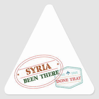 Syria Been There Done That Triangle Sticker
