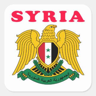 Syria Coat Of Arms Designs Square Sticker