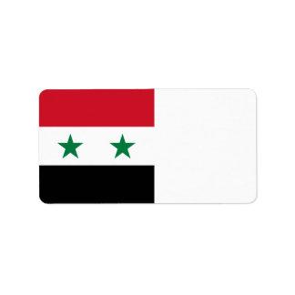 Syria Flag Address Label