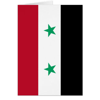 Syria flag card